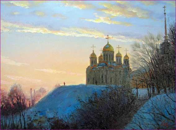 Родионов Игорь. Успенский собор вечером