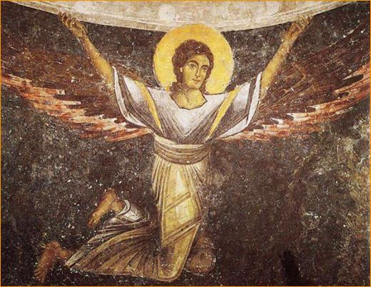Ангел держащий 1