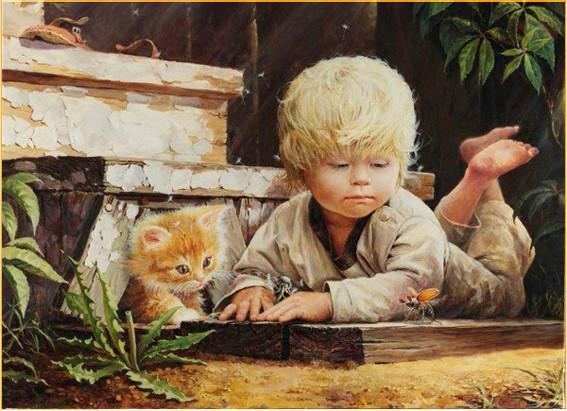 С котёнком 3
