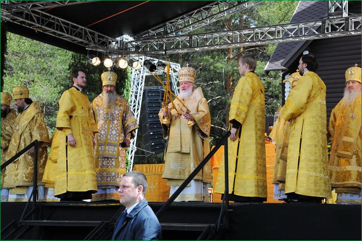 Патриарх Кирилл в Великорецком
