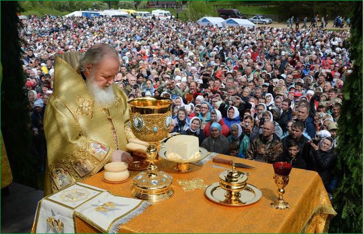 Патриарх Кирилл в Великорецком 2