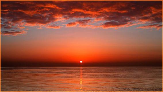 Закат на море 3