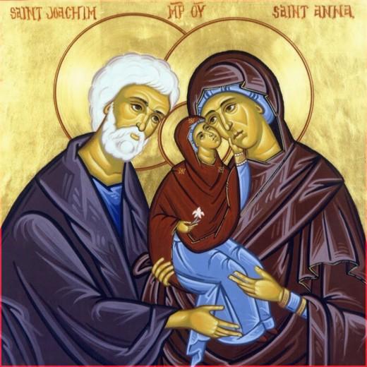 Св Дева Мария и прав Иоаким и Анна