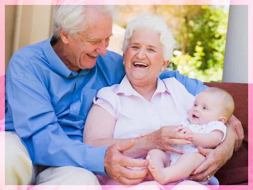 Дедушка бабушка и внук