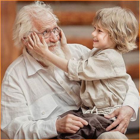 С дедушкой  2