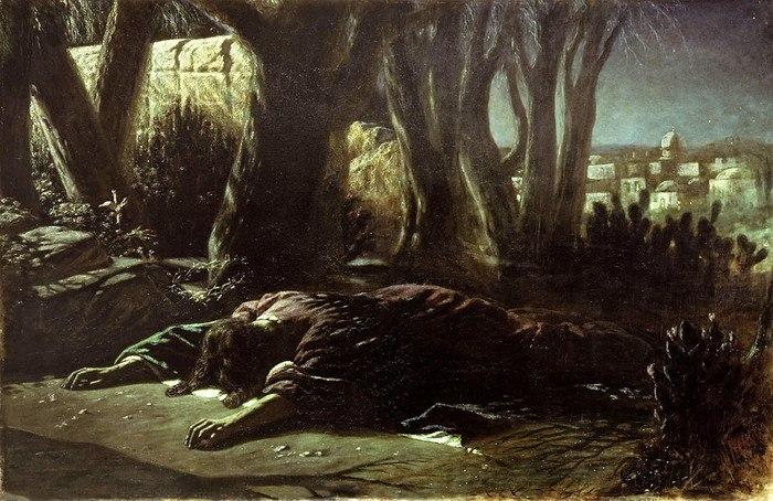 В.Г.Перов Христос в Гефсиманском саду
