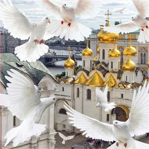 Храм и голуби
