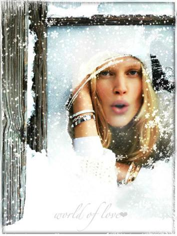В зимнем окне
