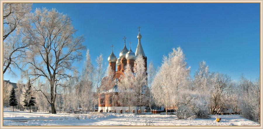 Виктор Бровцин храм Всех Святых зимой