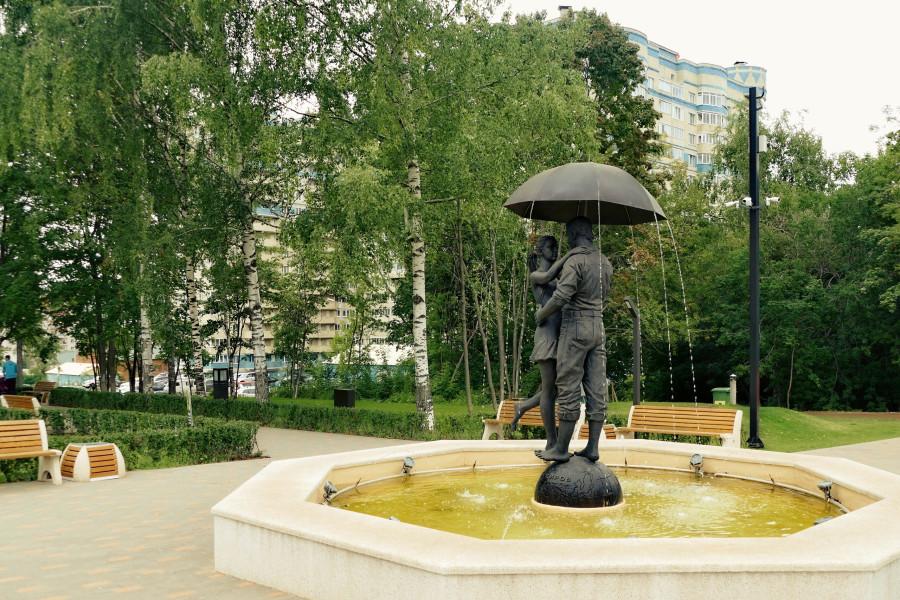Алекс Просвирнин под зонтом