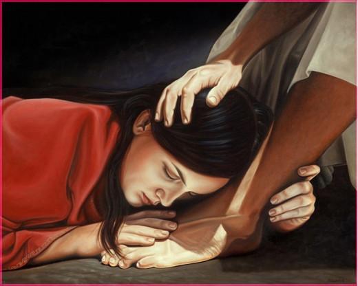 Мария, омывшая ноги Иисуса Христа