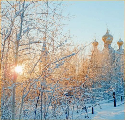 Морозный день и солнце