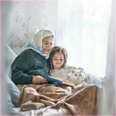 С бабушкой Елена Миронова