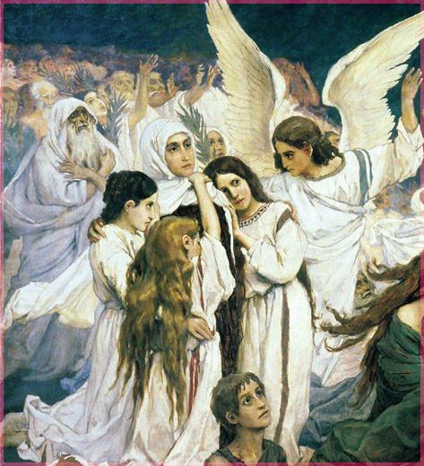 ВМ Васнецов Фреска Радость праведных о Господе