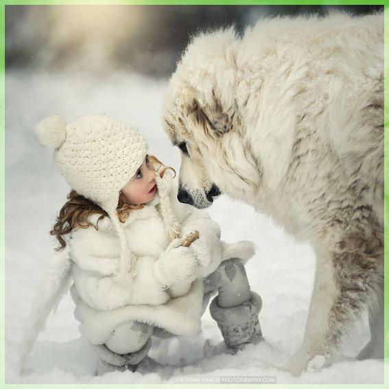 С белой собакой