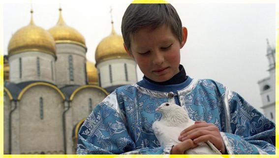 МАльчик с голубем