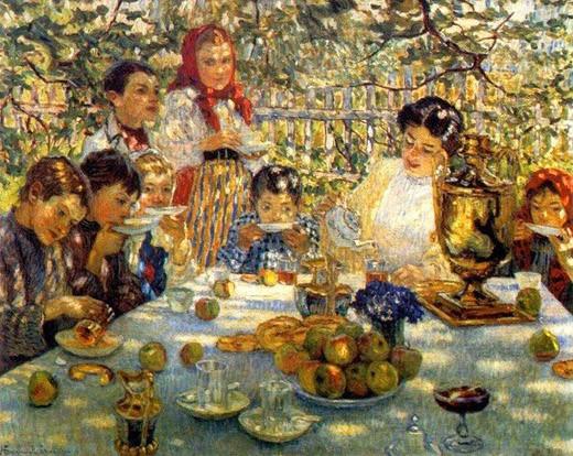 Чаепитие в саду