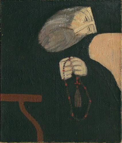 Монах с чётками