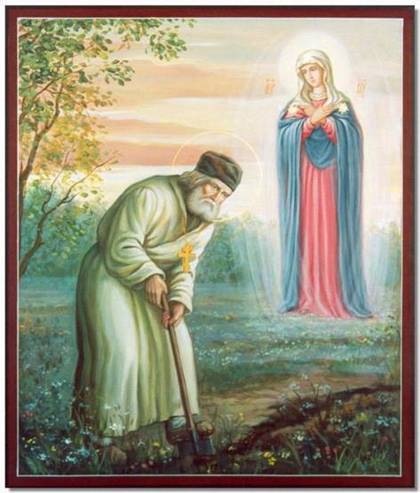 Царица Небесная и прп Серафим