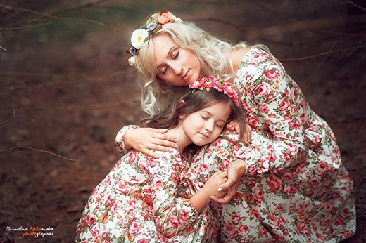 С дочкой Александра Шимолина
