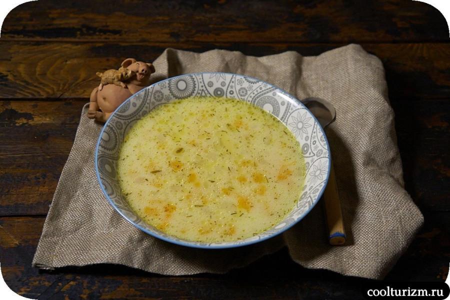 Рецепт супа с плавленым сырком