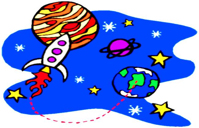 космос, рисунок