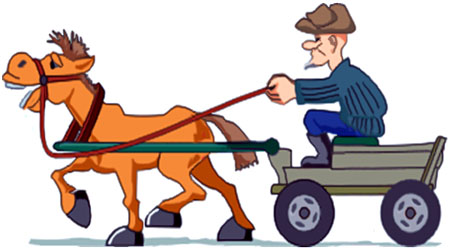 лошадка и телега