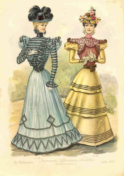 модная гравюра 1897 год