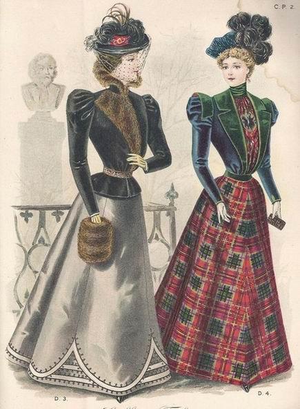 жен. мода 1898 г