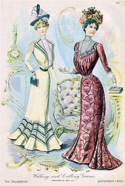 Resize of Дневные платья 1900 год