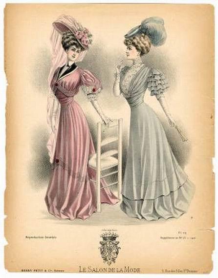 Нарядные женские платья, 1907 год