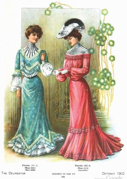 Дневные платья, октябрь 1902 года