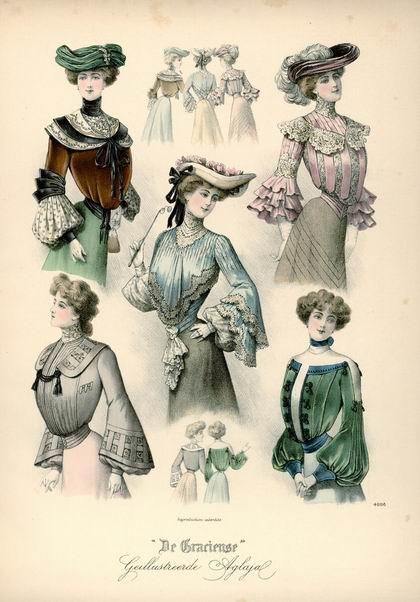 Женская мода, 1902 год