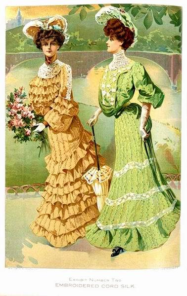 Прогулочные наряды, 1904 год