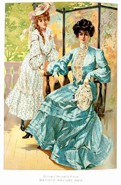 Нарядные дневные платья, 1904 год