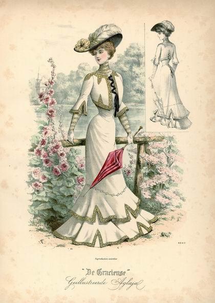 Прогулочный костюм, лето 1902 год