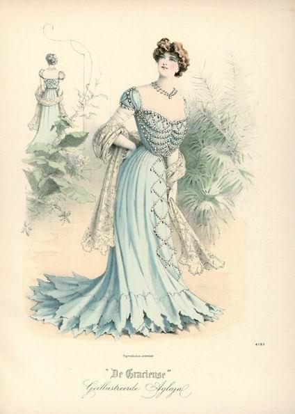 Вечернее платье, 1903 год