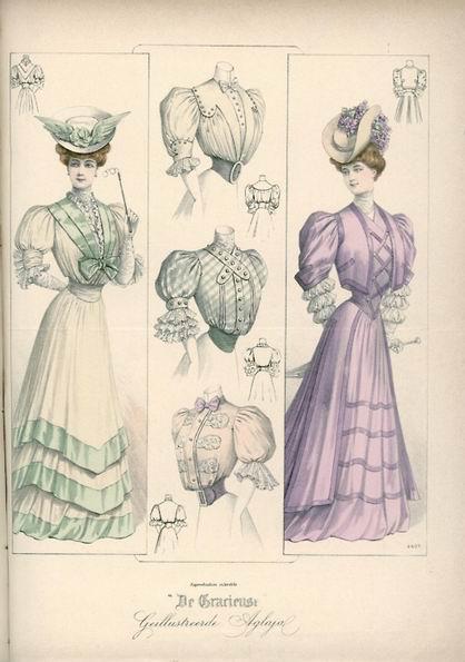 Женская мода, 1905 год