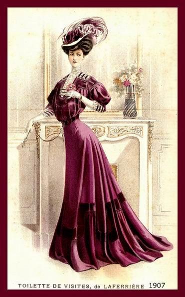 Платье для визитов, 1907 год