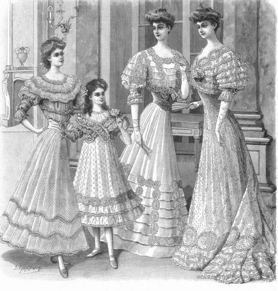 Вечерние наряды, 1906 год