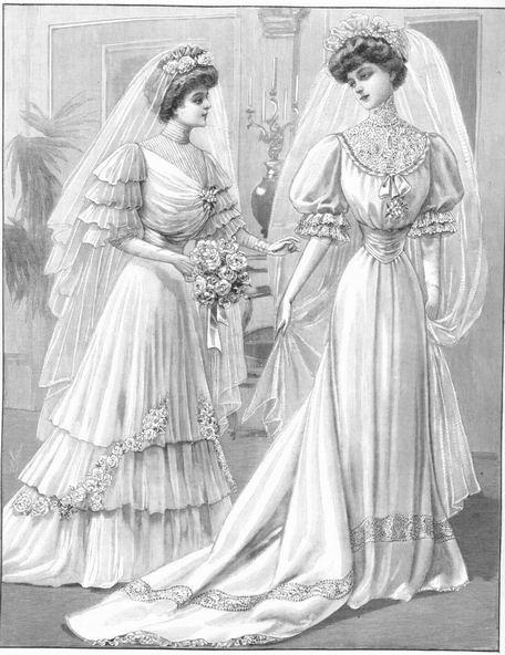 Свадебные платья, 1907 год