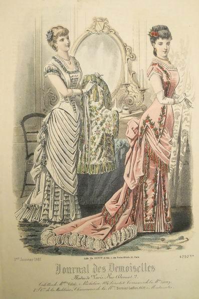 Бальные платья 1881 год