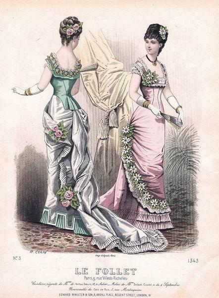 Бальные наряды 1880-81