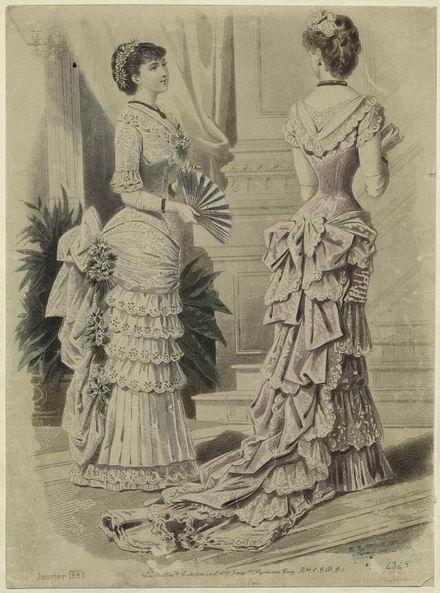 Бальные платья 1882 год