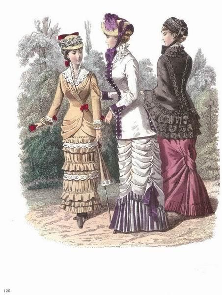 Костюмы для прогулок 1880-81