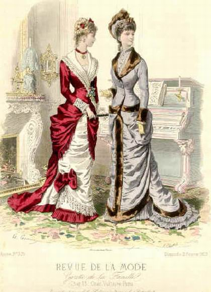 Платья около 1880 года