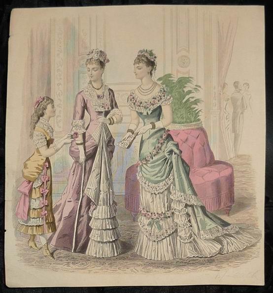 Нарядное и бальное платья, около 1880-го года