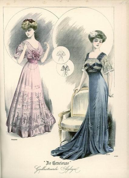 Вечерние платья, 1908 год