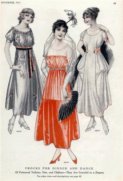 Бальные платья 1915 год