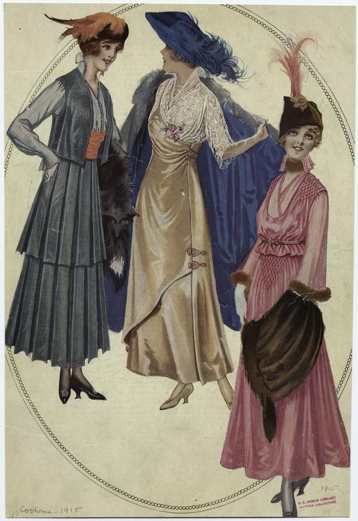 Женская мода, 1915 год